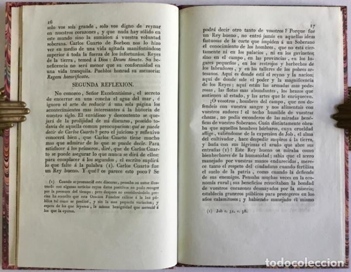 Libros antiguos: ORACION FÚNEBRE QUE EN LAS EXEQUIAS DEL REY Y SEÑOR D. CARLOS CUARTO DE BORBON, celebradas por el Re - Foto 4 - 123205663