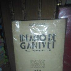 Libros antiguos: GANIVET.IDEARIO(RECOPILADO POR GARCÍA MERCADAL).BIBLIOTECA NUEVA. Lote 222085001