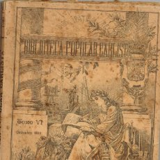 """Libros antiguos: 1895 """"DIOS PATRIA REY"""" BIBLIOTECA POPULAR CARLISTA TOMO VI DICIEMBRE. Lote 222101277"""