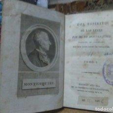 Libros antiguos: MONTESQUIEU.EL ESPÍRITU DE LAS LEYES.1820-1821.(5 TOMOS).IMPRENTA DE FERMIN VILLALPANDO. Lote 222617083