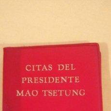 Libros antiguos: CITAS DEL PRESIDENTE MAO TSETUNG. Lote 223149872