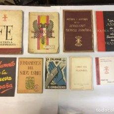 Libros antiguos: LOTE FALANGISMO (9 PUBLICACIONES). Lote 223273328