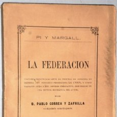 Libros antiguos: LA FEDERACIÓN. Lote 223883340
