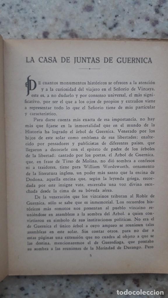 Libros antiguos: La casa de Juntas de Guernica. Carmelo de Echegaray. 20 Ilustraciones casa lux. Bilbao , 1936 - Foto 3 - 225874920