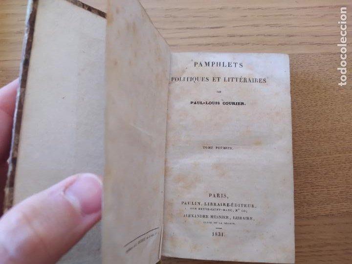 Libros antiguos: Pamphlets politiques et littéraires. Courier (Jean-Louis) Publicado por Paulin, 1831 - Foto 5 - 226041590