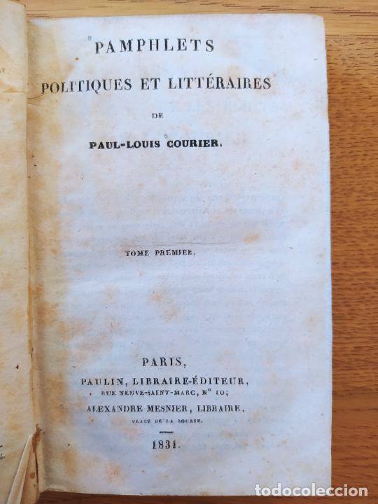 Libros antiguos: Pamphlets politiques et littéraires. Courier (Jean-Louis) Publicado por Paulin, 1831 - Foto 6 - 226041590