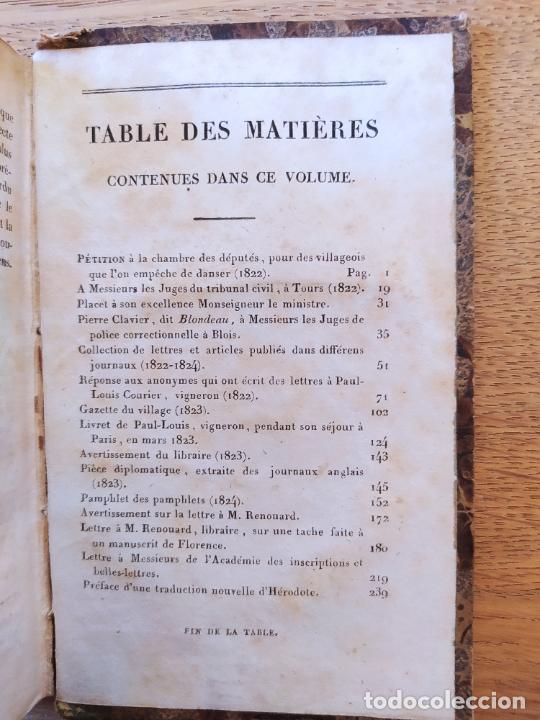 Libros antiguos: Pamphlets politiques et littéraires. Courier (Jean-Louis) Publicado por Paulin, 1831 - Foto 8 - 226041590