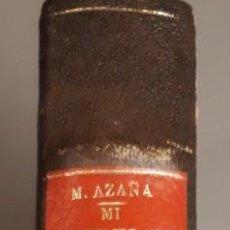 Libros antiguos: MANUEL AZAÑA,MI REBELION EN BARCELONA. MADRID ESPASA-CALPE , 1935. ENCUADERNADO. Lote 227730000