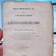 Livros antigos: MEMORIAS. VIDA POLITICA Y LITERARIA DE D. FRANCISCO MARTINES DE LA ROSA, 1863. RARO. Lote 229121695