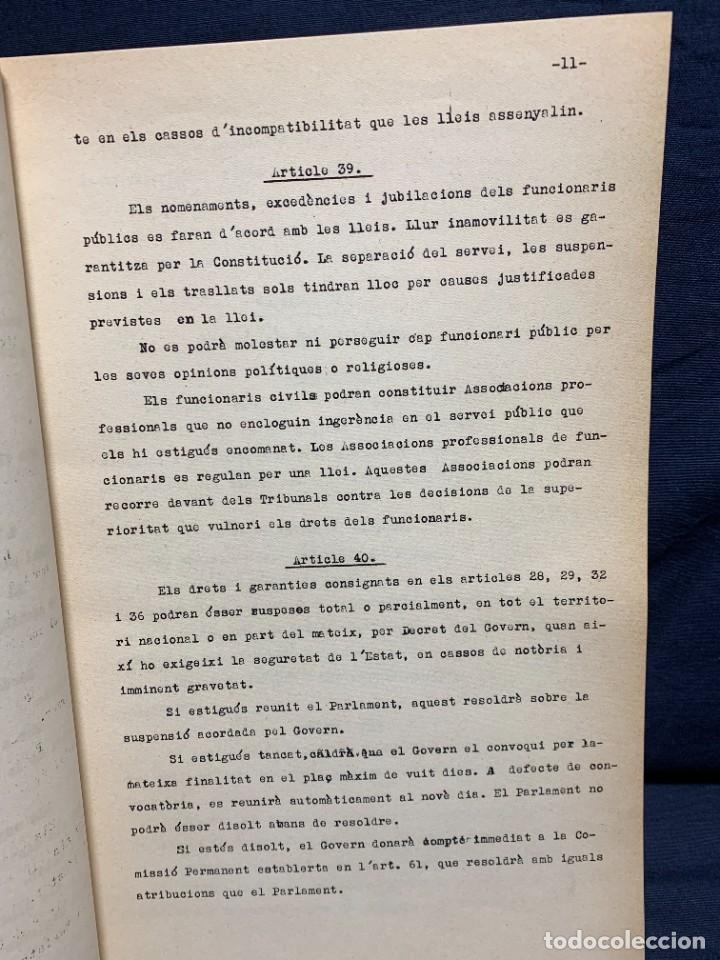 Libros antiguos: LA INTERVENCIO DELS REPRESENTANTS DE CATALUNYA EN LA CONSTITUCIO DE LA REPUBLICA GENERALITAT 1932 - Foto 3 - 229412080