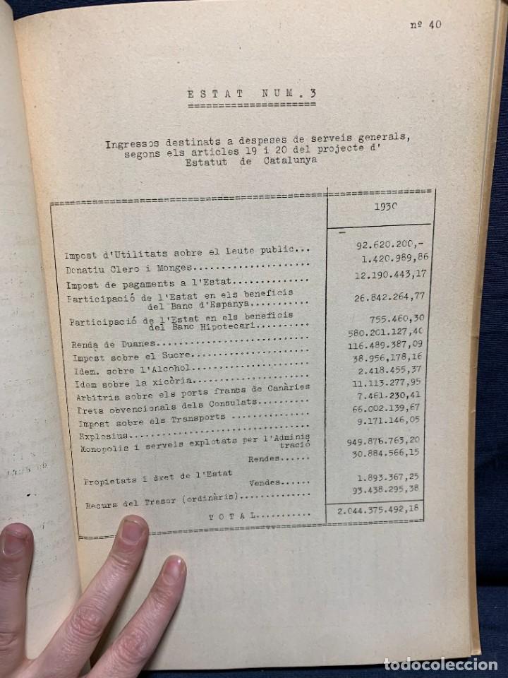 Libros antiguos: ESTATUT DE CATALUNYA A LES CONTITUENTS DE REPUBLICA FASCICLE NUM 9 1932 GENERALITAT CATALUNYA 32X22 - Foto 3 - 229430550