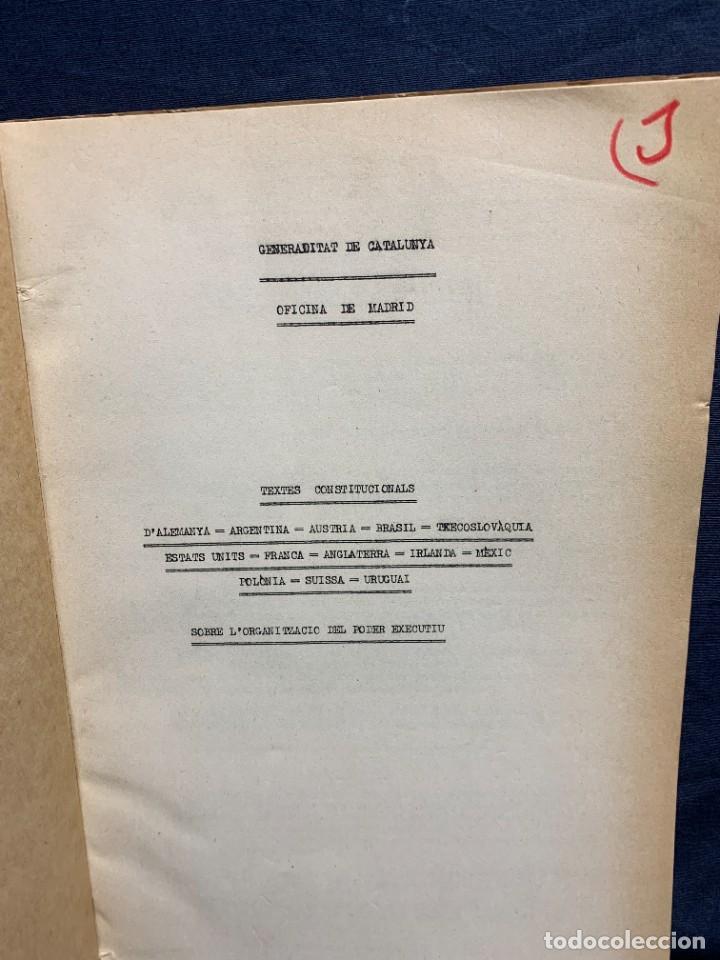 Libros antiguos: RECOPILACIO TEXTOS CONSTITUCIONALS EUROPA AMERICA FASCICLE N XI 1932 - Foto 2 - 229479435