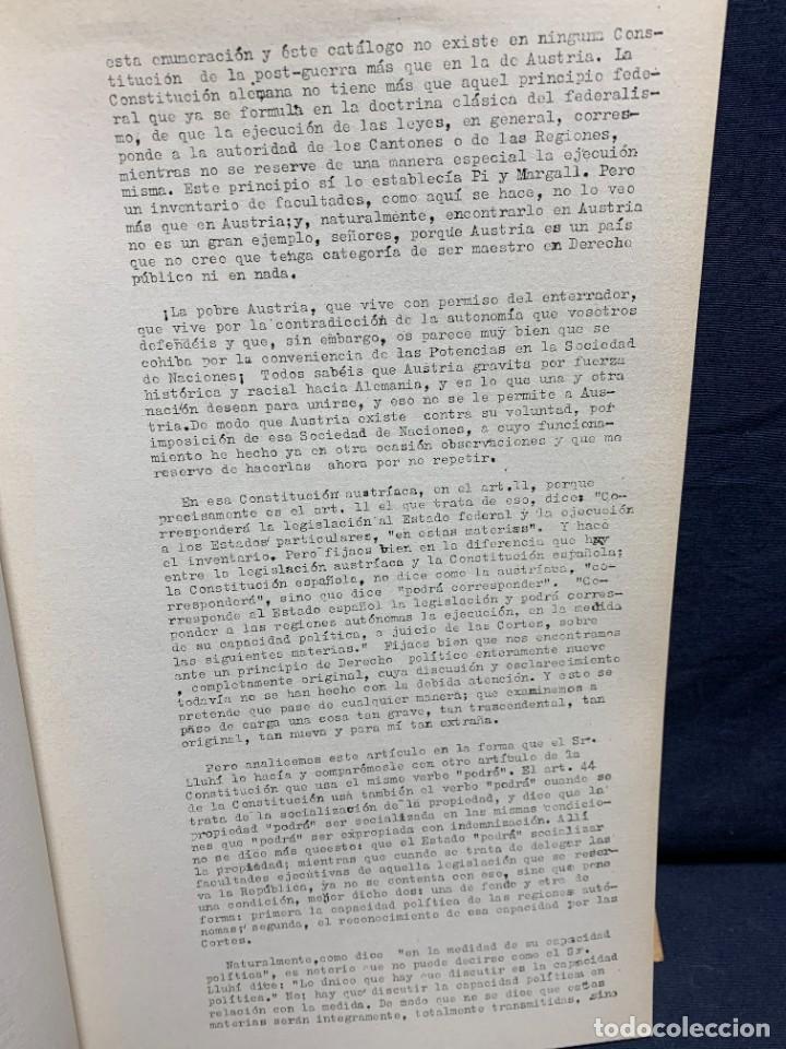Libros antiguos: ESTATUT CATALUNYA CONSTITUENTS REPUBLICA DISCUSSIO DEL ARTICULAT FASCICLE N XIII 1932 - Foto 3 - 229479625