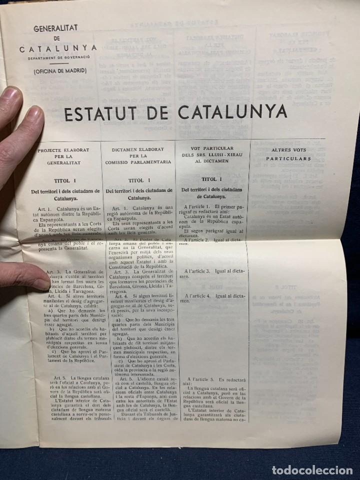 Libros antiguos: ESTATUT CATALUNYA CONSTITUENTS REPUBLICA DISCUSSIO DEL ARTICULAT FASCICLE N XII 1932 - Foto 6 - 229479875