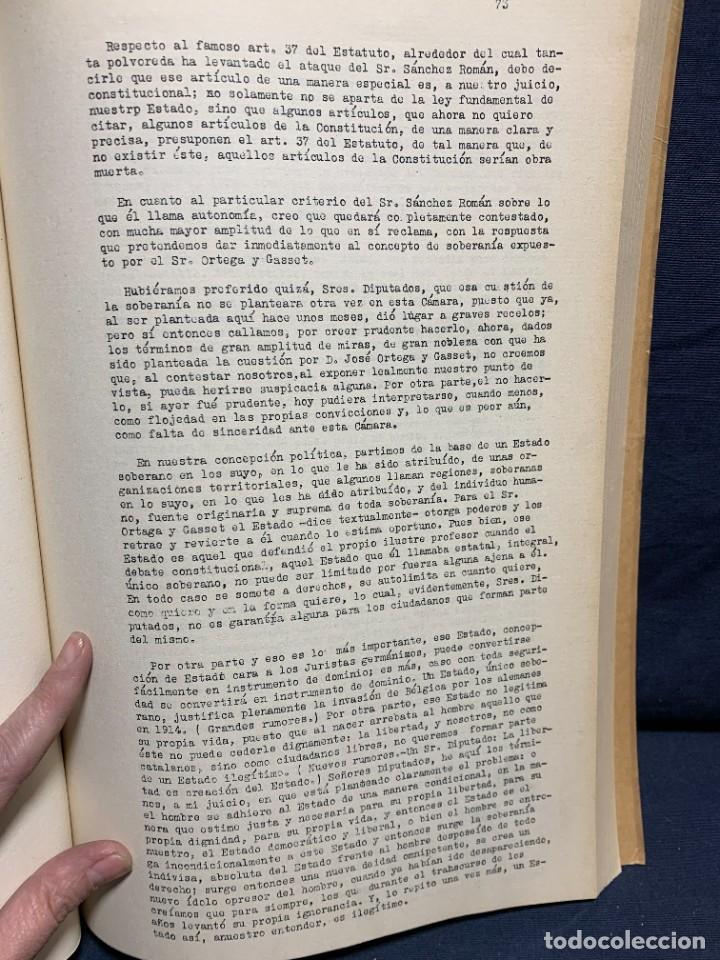 Libros antiguos: ESTATUT CATALUNYA CONSTITUENTS REPUBLICA DISCUSSIO DEL ARTICULAT FASCICLE N X 1932 - Foto 2 - 229480625