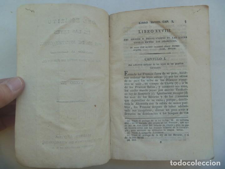 Libros antiguos: DEL ESPIRITU DE LA LEYES , POR MR. DE MONTESQUIEU . TOMO IV . IMP. VILLALPANDO 1821 . SIGLO XIX - Foto 2 - 232451555