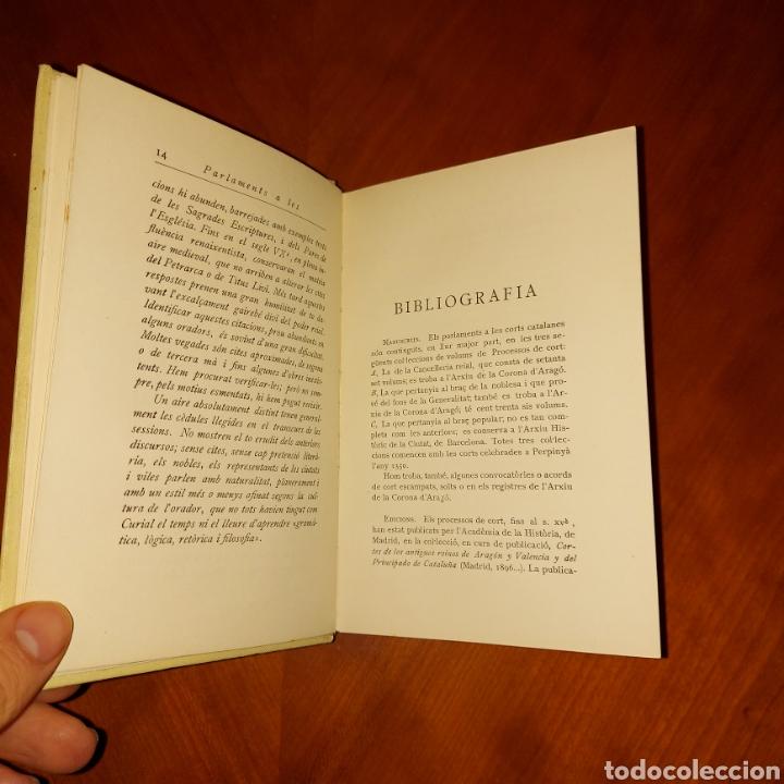 Libros antiguos: Parlaments a les Corts Catalanes 1928 Els Nostres Classics - Foto 4 - 234340530