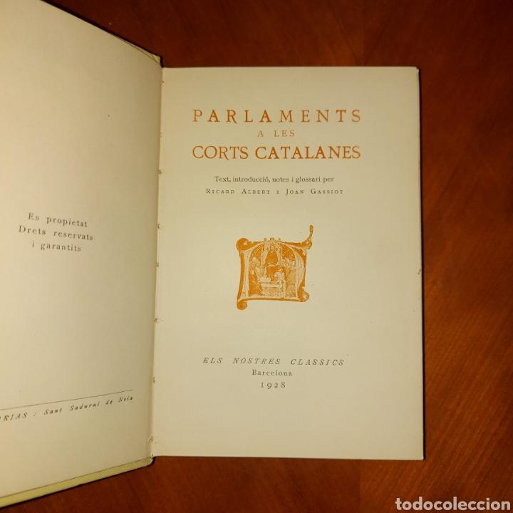 PARLAMENTS A LES CORTS CATALANES 1928 ELS NOSTRES CLASSICS (Libros Antiguos, Raros y Curiosos - Pensamiento - Política)