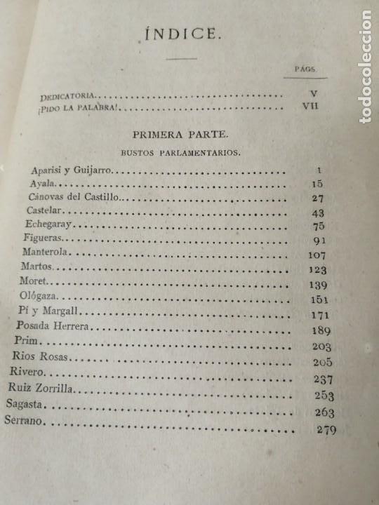 Libros antiguos: LOS ORADORES DE 1869 CAÑAMAQUE PRIMERA EDICION 1879 MUY RARO - Foto 8 - 234407135