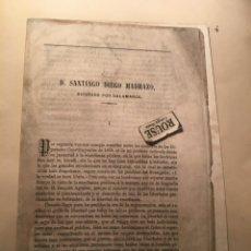 Libros antiguos: D. SANTIAGO DIEGO MADRAZO , DIPUTADO POR SALAMANCA - ANTIGUA SEPARATA BIOGRAFIA 1869 POR ANTONIO BAL. Lote 234840365
