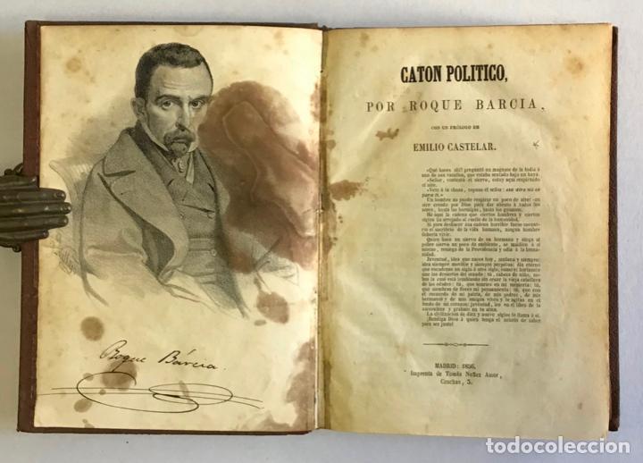 Libros antiguos: CATÓN POLÍTICO. - BARCIA, Roque. 1856 - Foto 2 - 123161420
