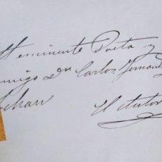 Libros antiguos: EL SOCIALISMO EN INGLATERRA, EDUARDO HUERTAS, DEDICADO POR EL AUTOR, HIJOS DE J.A. GARCIA 1885. Lote 238838615