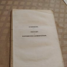 Libros antiguos: COLECCIÓN DE EXPEDIENTES GUBERNATIVOS. TOMO I. Lote 240037360
