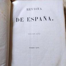 Libros antiguos: REVISTA DE ESPAÑA. TERCER AÑO. TOMO XIV. VIUDA E HIJO DE CASTRO. MADRID. 1870. Lote 240466885