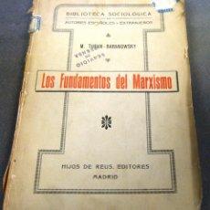 Libros antiguos: LOS FUNDAMENTOS DEL MARXISMO, 1915. Lote 240703265