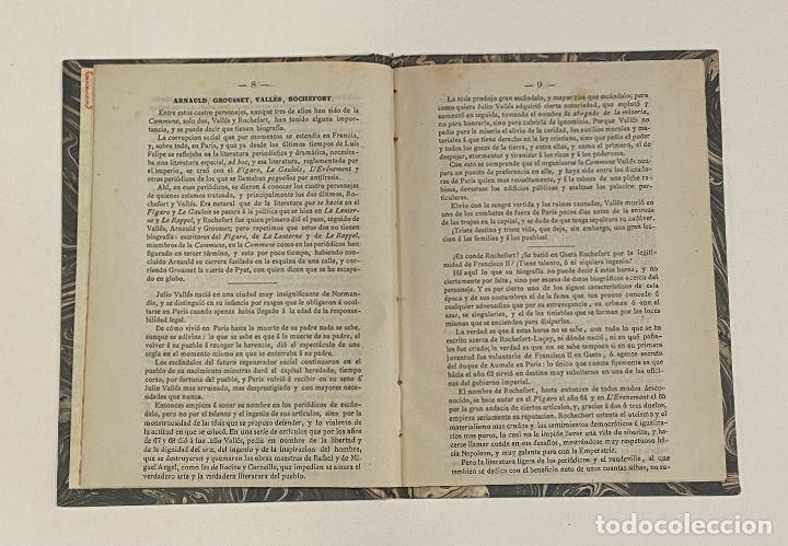 Libros antiguos: PARIS EN LLAMAS. Biografias de los miembros de La Commune. 1871. SOCIALISMO - ANARQUISMO - Foto 2 - 240866245