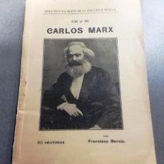 Libros antiguos: LIBRO KARL MARX, IX Y X, 1912. Lote 240942490