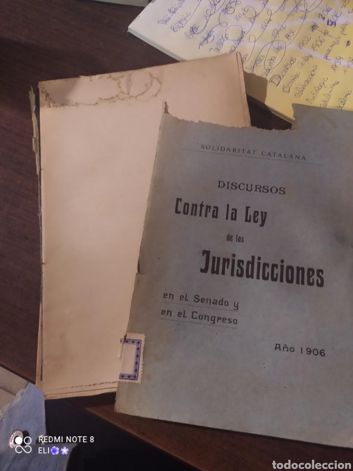 Libros antiguos: Discursos contra la ley de las jurisdicciones , 1906 , solidaritat catalana - Foto 2 - 242348050