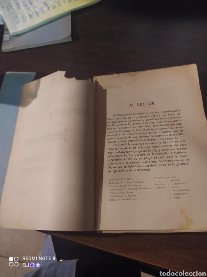 Libros antiguos: Discursos contra la ley de las jurisdicciones , 1906 , solidaritat catalana - Foto 3 - 242348050