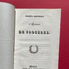 Libros antiguos: 1837 - RESEÑA HISTÓRICA DEL ESTAMENTO DE PRÓCERES - ESTATUTO REAL - POLITICA. Lote 243408040