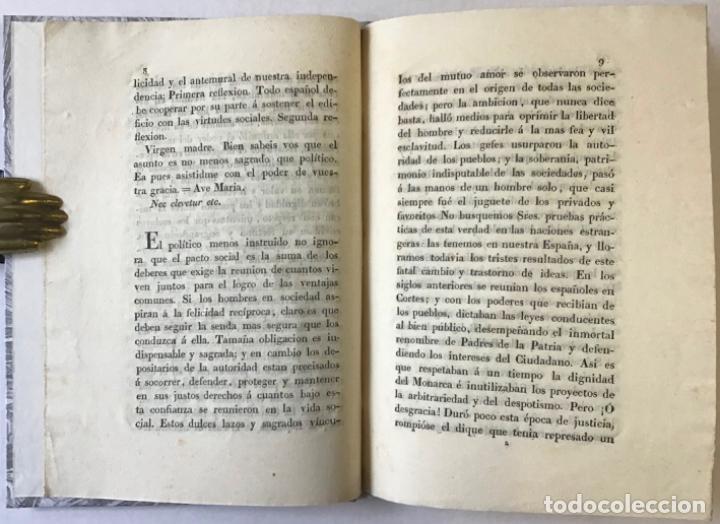 Libros antiguos: LA CONSTITUCION POLÍTICA DE LA MONARQUÍA ESPAÑOLA BASE DE NUESTRA FELICIDAD, cuando esté apoyada... - Foto 2 - 243542595
