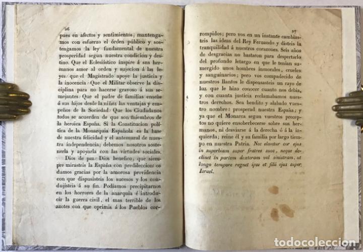 Libros antiguos: LA CONSTITUCION POLÍTICA DE LA MONARQUÍA ESPAÑOLA BASE DE NUESTRA FELICIDAD, cuando esté apoyada... - Foto 4 - 243542595
