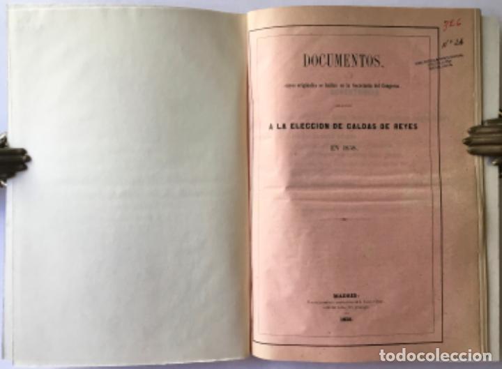 DOCUMENTOS, CUYOS ORIGINALES SE HALLAN EN LA SECRETARÍA DEL CONGRESO, RELATIVOS A LA ELECCION DE... (Libros Antiguos, Raros y Curiosos - Pensamiento - Política)