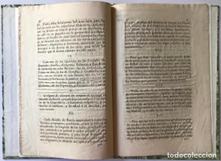 Libros antiguos: REAL CEDULA DE SU MAGESTAD, Y SEÑORES DEL CONCEJO, ESTABLECIENDO ALCALDE DE QUARTEL Y DE BARRIO... - Foto 3 - 243991435