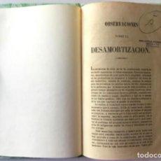 Libros antiguos: OBSERVACIONES SOBRE LA DESAMORTIZACION.. Lote 243999565