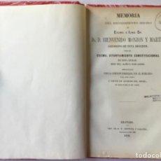 Libros antiguos: MEMORIA DEL RECIBIMIENTO HECHO AL EXCMO. É ILMO. SR. DR. D. BIENVENIDO MONZON Y MARTIN, ARZOBISPO.... Lote 244002400