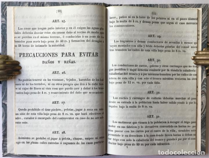 Libros antiguos: REGLAMENTO DE POLICÍA URBANA, APROBADO POR EL M.I.S. GEFE SUPERIOR POLÍTICO DE LA PROVINCIA, EN 9... - Foto 2 - 244005840