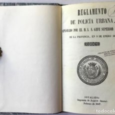 Libros antiguos: REGLAMENTO DE POLICÍA URBANA, APROBADO POR EL M.I.S. GEFE SUPERIOR POLÍTICO DE LA PROVINCIA, EN 9.... Lote 244005840
