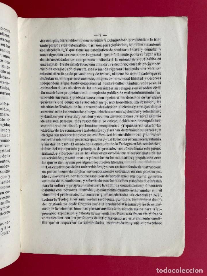 Libros antiguos: 1854 - SOBRE LA NECESIDAD DE RESTABLECER FACULTADES DE TEOLOGIA - Foto 4 - 244864805