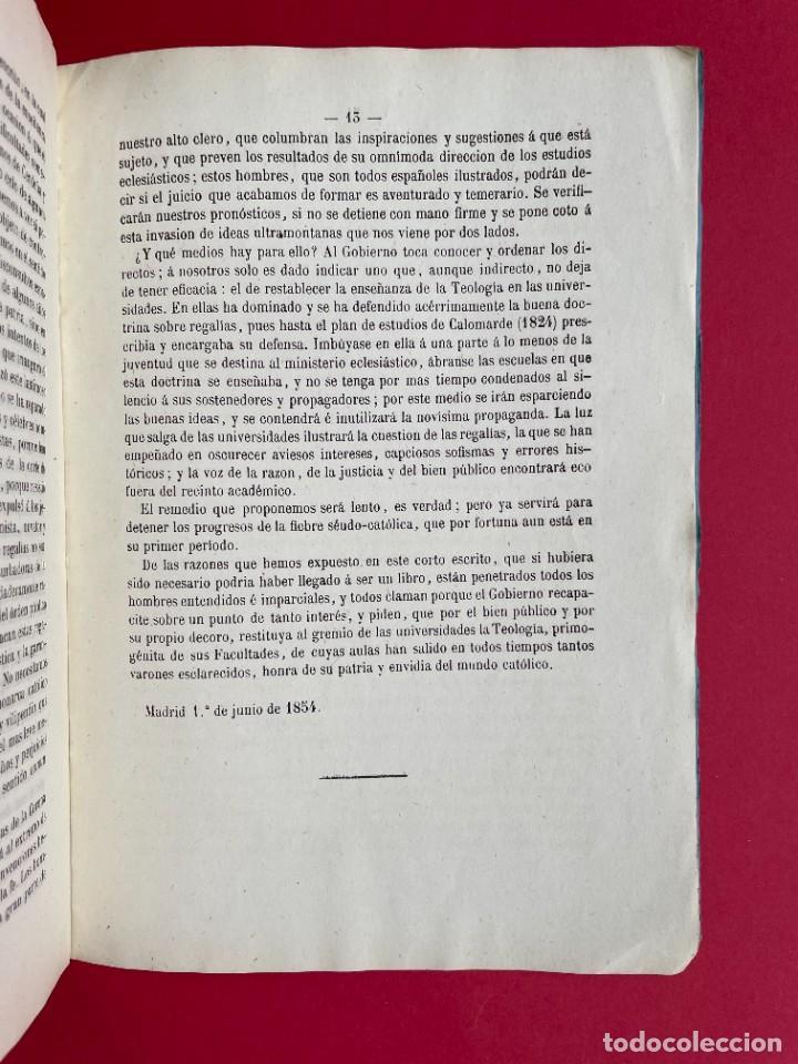 Libros antiguos: 1854 - SOBRE LA NECESIDAD DE RESTABLECER FACULTADES DE TEOLOGIA - Foto 5 - 244864805