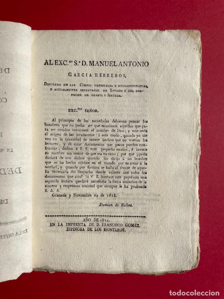 Libros antiguos: 1814 - COTEJO DE LA AUDENCIA DE BARCELONA CON LA CHANCILLERIA DE GRANADA - GUERRA DE INDEPENDENCIA - Foto 2 - 244872595