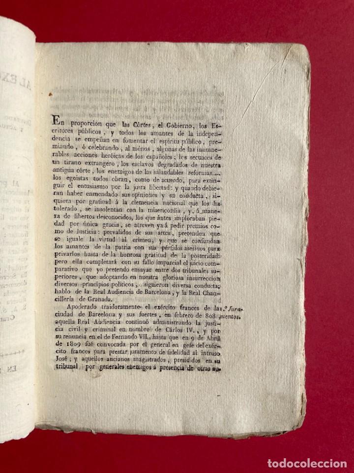 Libros antiguos: 1814 - COTEJO DE LA AUDENCIA DE BARCELONA CON LA CHANCILLERIA DE GRANADA - GUERRA DE INDEPENDENCIA - Foto 3 - 244872595