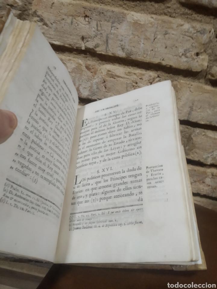 Libros antiguos: LOPEZ DE OLIVER Y MEDRANO, D. Antonio. Verdadera idea de un Príncipe, Leyes del Reyno. 1786. - Foto 2 - 244950380
