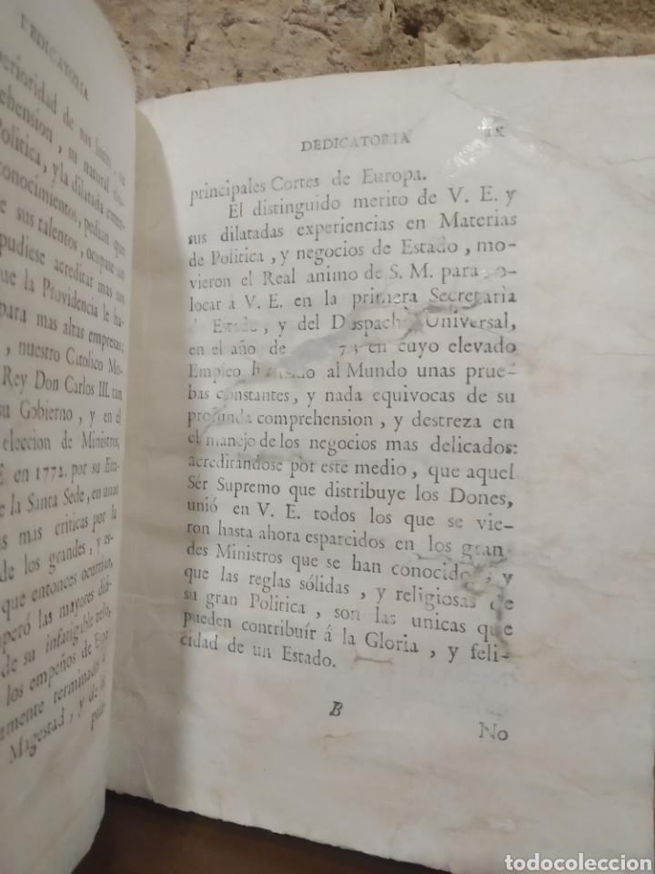 Libros antiguos: LOPEZ DE OLIVER Y MEDRANO, D. Antonio. Verdadera idea de un Príncipe, Leyes del Reyno. 1786. - Foto 8 - 244950380
