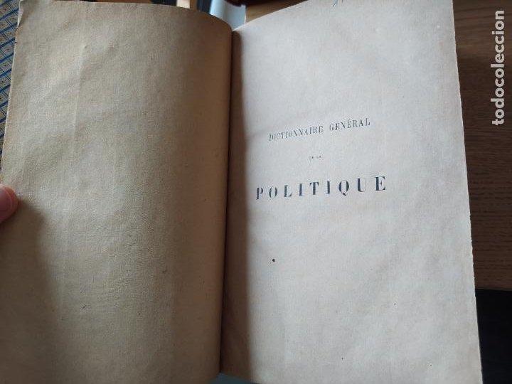 Libros antiguos: DICTIONNAIRE GENERAL DE LA POLITIQUE. BLOCK Maurice. Paris, ed. Lorenz 1880 RARE - Foto 9 - 245902610
