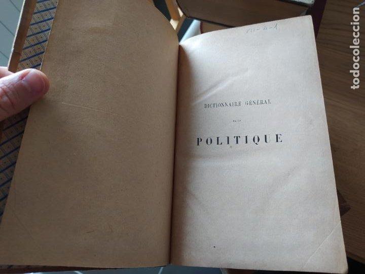 Libros antiguos: DICTIONNAIRE GENERAL DE LA POLITIQUE. BLOCK Maurice. Paris, ed. Lorenz 1880 RARE - Foto 16 - 245902610
